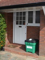 Green Pelipod on doorstep